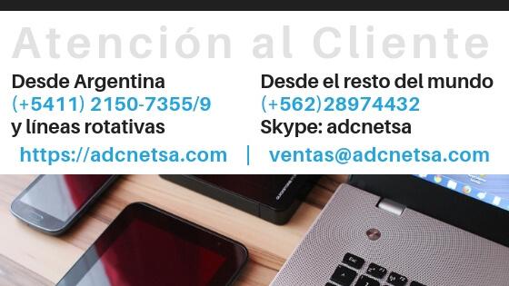 ADC Net Soluciones Informáticas Argentina 5411-2150-7355/9 Chile 562-2897-4432