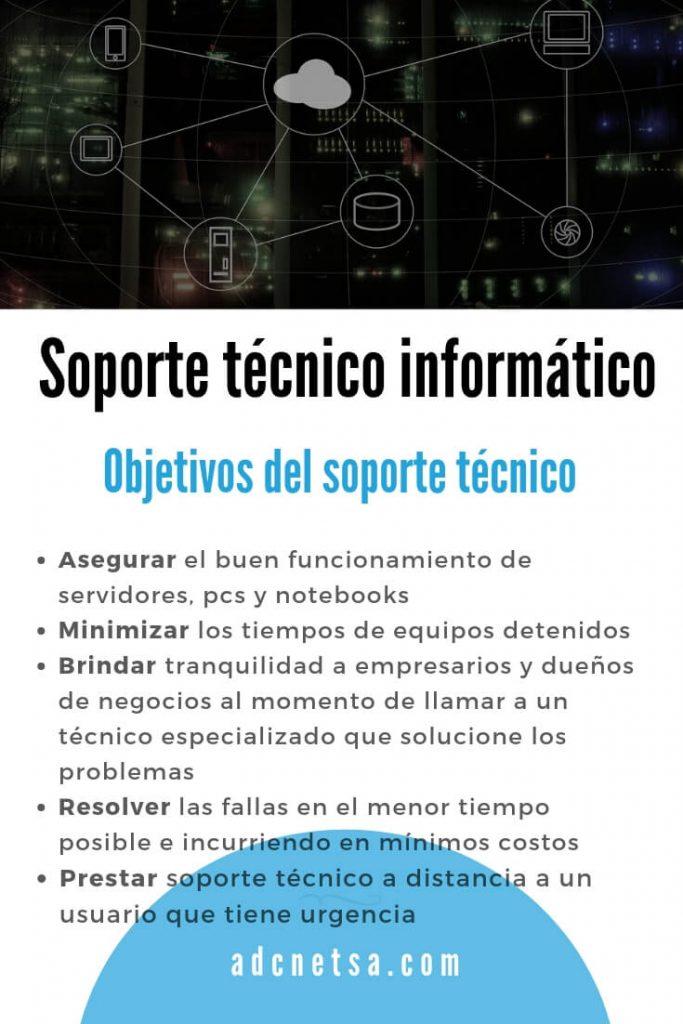 Soporte técnico informático | Objetivos del soporte técnico | ADC Net