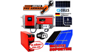 Kit Solar Qcell 26.000 watts Dia Motores 3hp