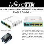 Mikrotik RouterBOARD Hex PoE rb960pgs 5 Puerto Gigabit Ethernet Router